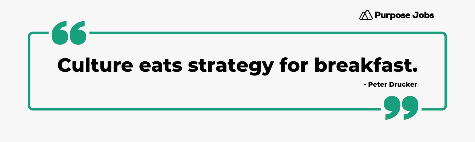 Culture eats strategy for breakfast.