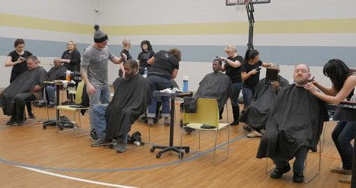 DaySmart volunteer haircut