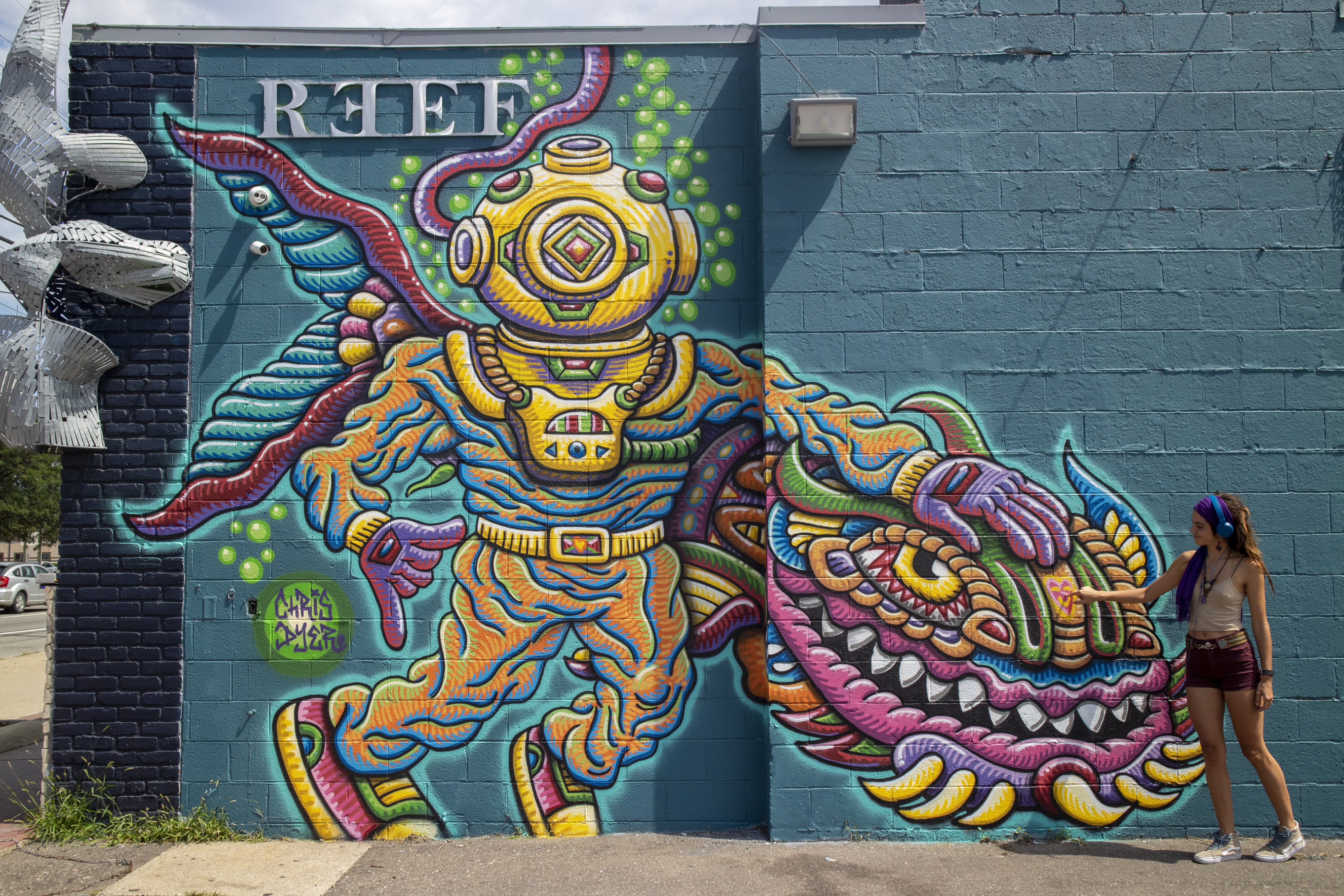 Reef Diver Mural by Chris Dyer