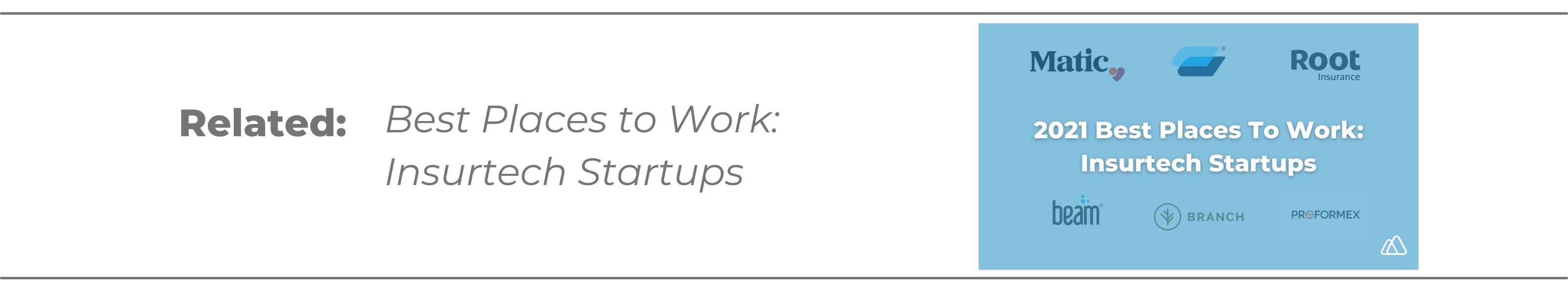 best insurtech startups