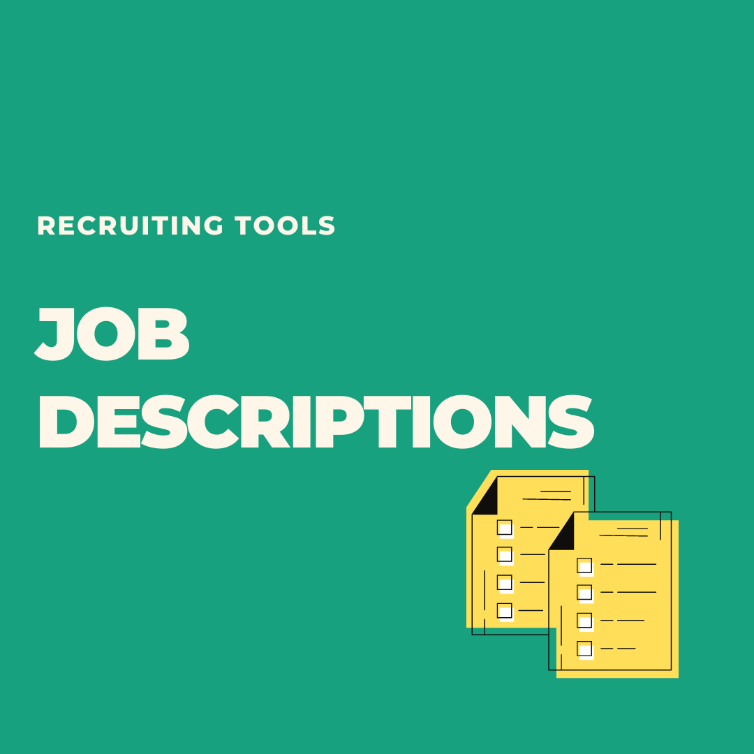 Writing a job description? Use this template.